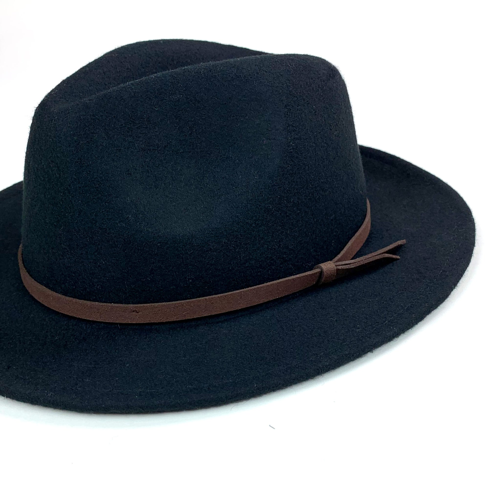 aa0fa40045545 Womens Black Fedora - The Arlo - King and Fifth Supply Co.