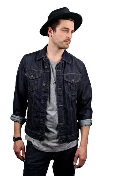 Mens Wide Brim Fedora Black