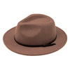 Womens Fedora Tan Light Brown