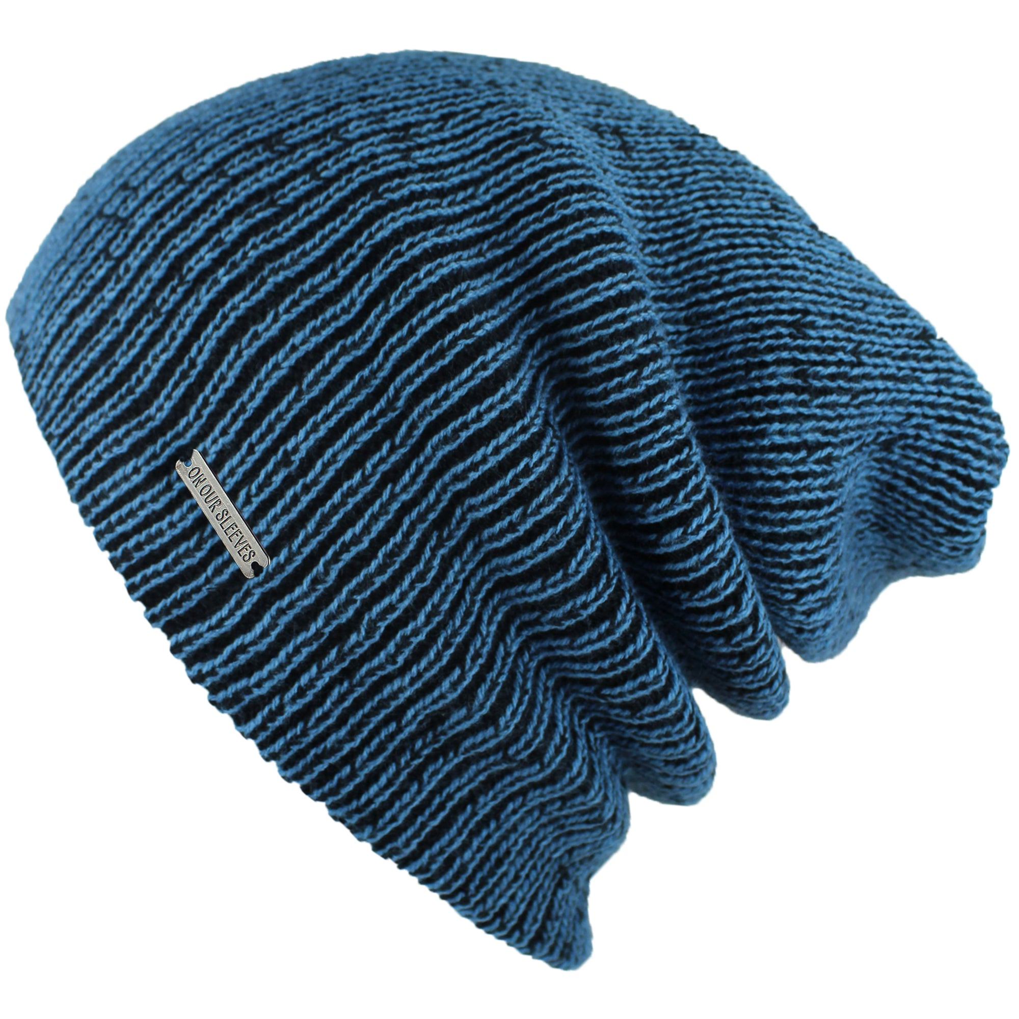 slouchy beanies for men black blue