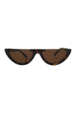 Scha Sunglasses Half Frame in Brown