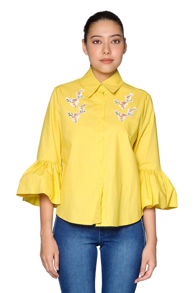 Sakura Top in Yellow