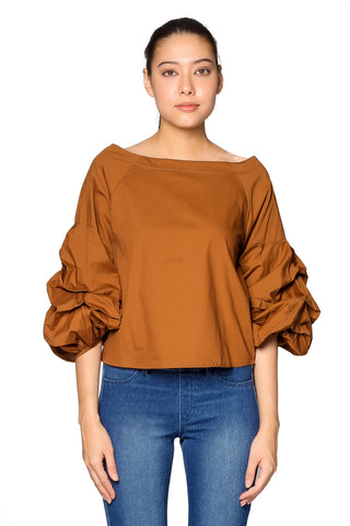 Aleyna Top in Golden Brown