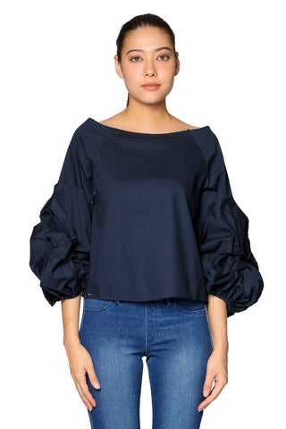 Aleyna Top in Dark Blue