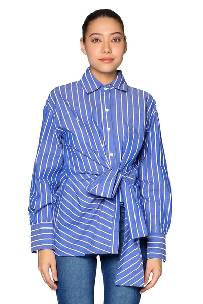 Stripes Shirt in Blue Red