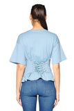 Wrap Waist Cotton in Baby Blue