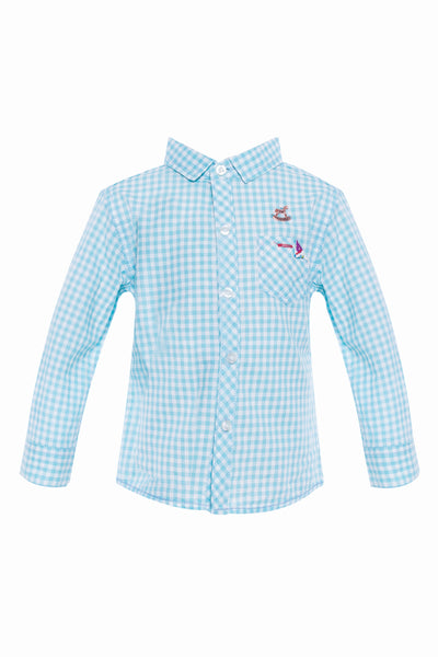 Danny Long Sleeves Shirt in Blue