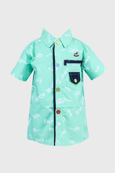 Specky Short Sleeves Shirt in Green