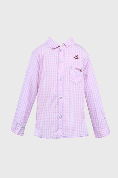 Danny Long Sleeves Shirt in Pink