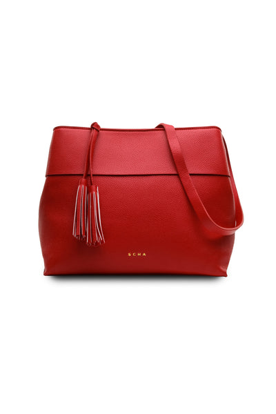 Taia Shoulder Bag in Red