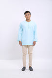 Theo Kurta in Ice Blue