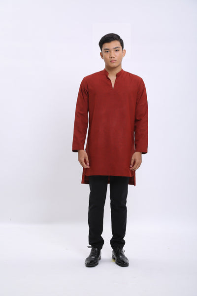 Aqil Kurta in Red