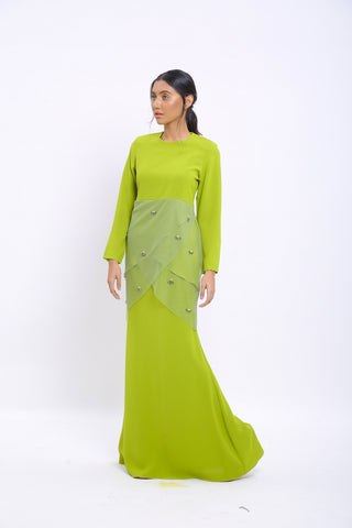 Lily Kurung in Green
