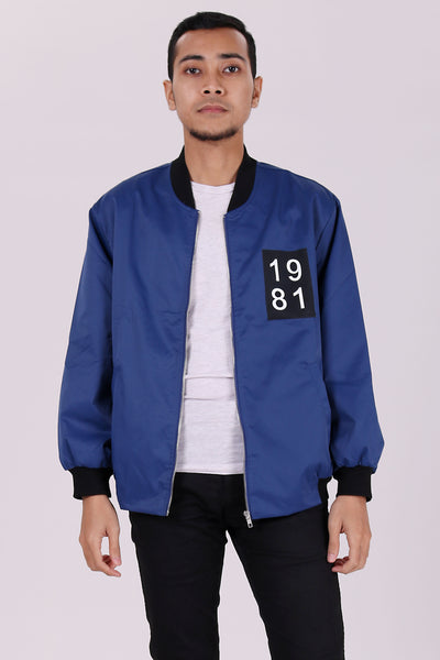 Ansel 1981 Bomber Jacket in Blue