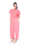 Anusara Plain Jumpsuit in Coral