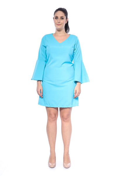 Salome Plain Dress in Light Blue