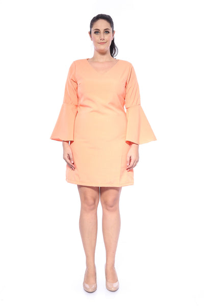 Salome Plain Dress in Orange