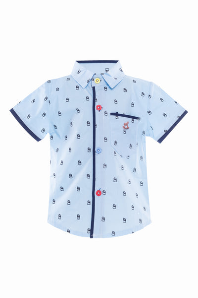 Bart Short Sleeves Shirt in Blue