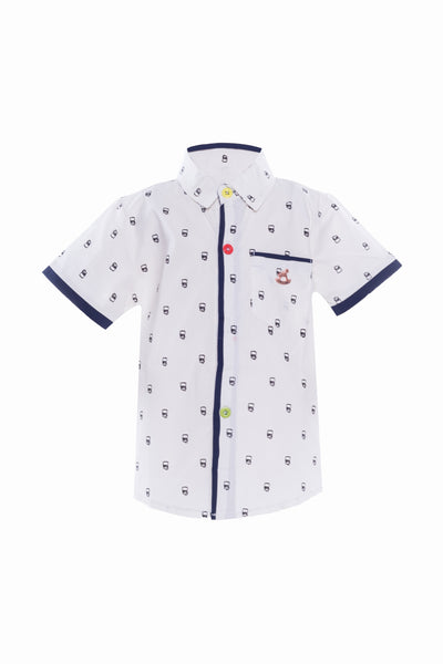 Bart Short Sleeves Shirt in White