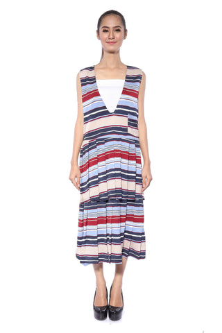 Akne Dress in Stripes