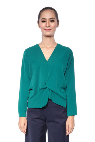 Alana Top in Emerald Green