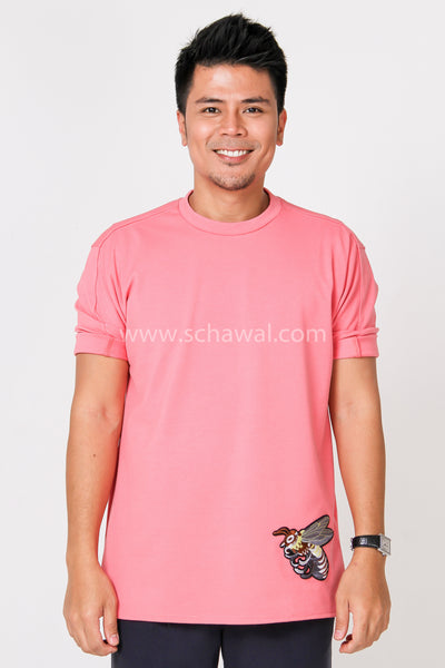 Awal Patches Plain Shirt in Pink
