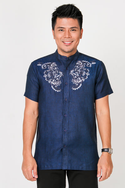 Andika Shirt 022 in Navy Blue