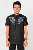 Andika Shirt 022 in Black Blue