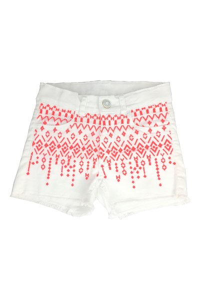 Preloved 087 - H&M Aztec White Short Pants