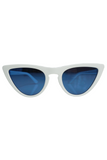 Scha Sunglasses Half Frame Tortoise in White