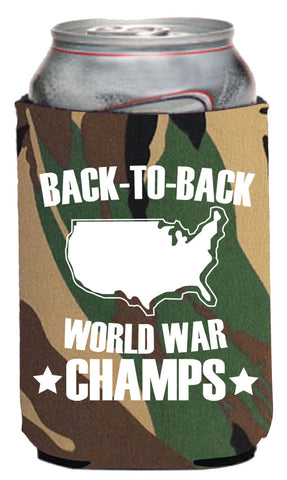 Back-To-Back World War Champs Neoprene Can Coolie
