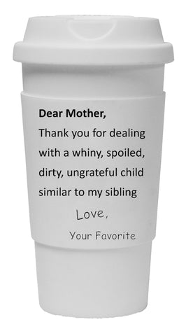 Dear Mother Thank You Tumbler