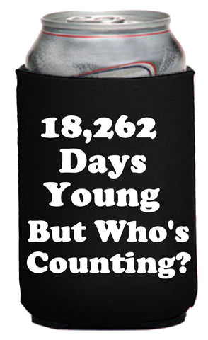 50th Birthday - 18,262 Days Young Neoprene Can Coolie