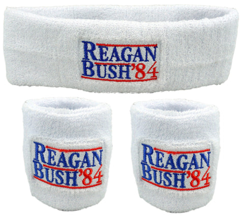 Reagan Bush '84 Sweatband Set