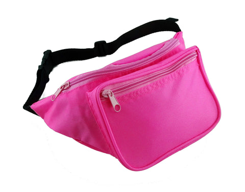Plain Neon Pink Fanny Pack