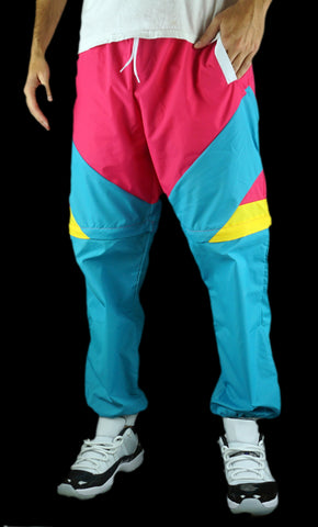 Like Totally 80's Windbreaker Pants