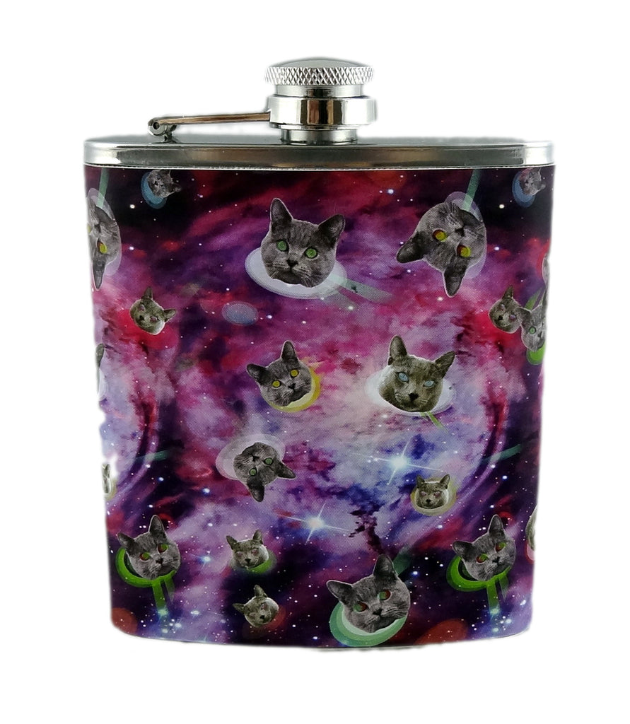 Space Cats Stainless Steel 7oz Hip Flask
