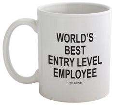 World's Best Entry Level Employee - Finger On Bottom Mug