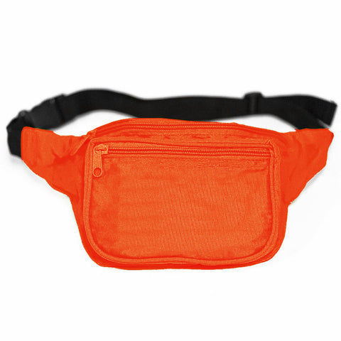 Plain Neon Orange Fanny Pack
