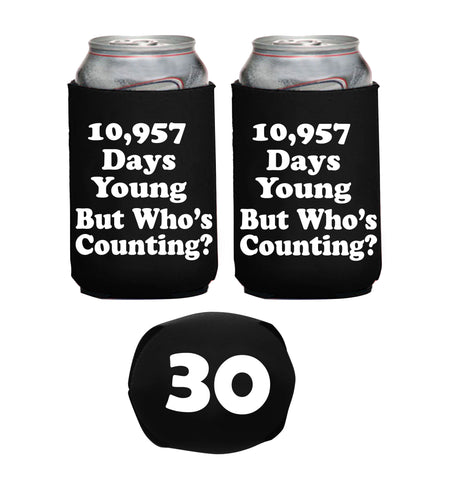 30th Birthday 10957 Days Young Neoprene Can Coolie