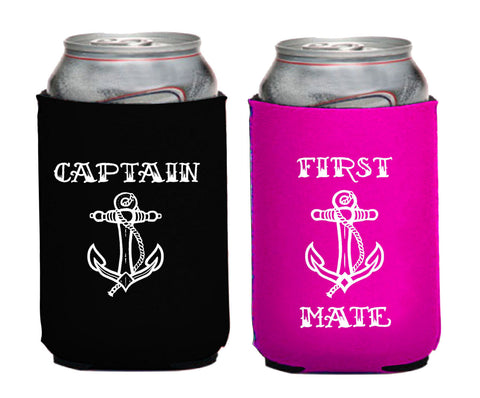 2 PACK: Captain/First Mate Neoprene Can Coolie