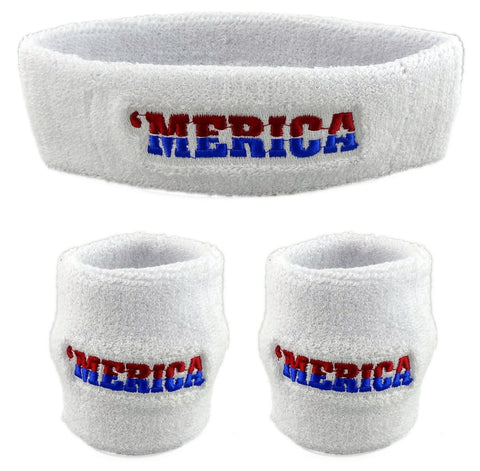 Merica - 3 Pack - Sweatbands