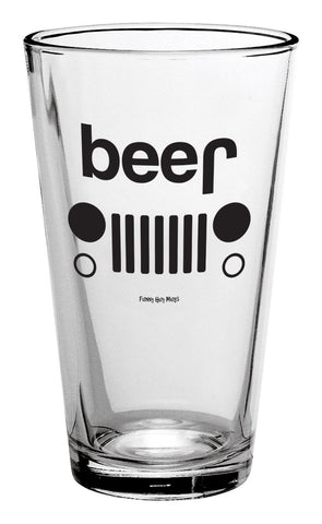 Beer Truck Pint Glass
