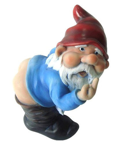 Mooning Gnome Statue