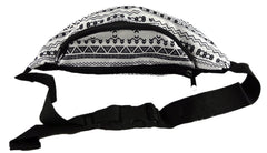 Aztec Black and White Fanny Pack