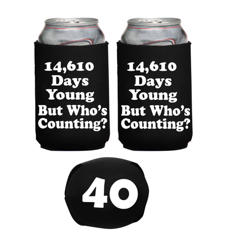 40th Birthday 14610 Days Young  Neoprene Can Coolie