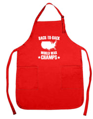 Back To Back World War Champs Apron