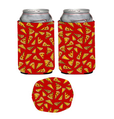 Pizza Neoprene Can Coolie