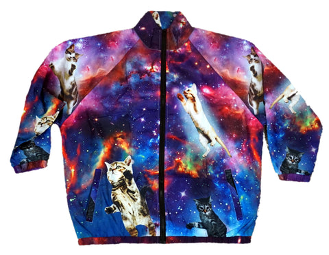 Space Cat Windbreaker Jacket