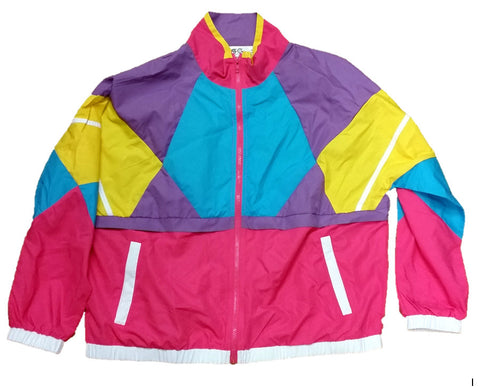 Like Totally 80s & 90s Retro Neon Windbreaker